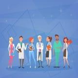 Mediala doktorer Team Clinics Hospital för grupp vektor illustrationer