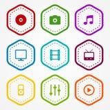 Medialne odznaki Obrazy Stock