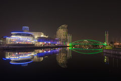 Medialni miasta Salford Quays Obraz Royalty Free