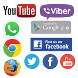 Medialni networking apps Zdjęcie Royalty Free
