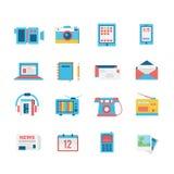 Medialny ikona set Obraz Stock