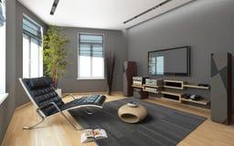 Medialny pokój Z stereo ilustracji