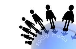 medialny socjalny Obraz Royalty Free