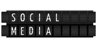 medialny socjalny Fotografia Stock