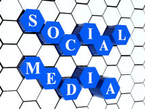 medialny socjalny royalty ilustracja