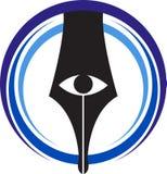 Medialny widoku logo Zdjęcie Stock