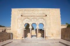 Median- Azahara slott, Cordoba, Spanien. royaltyfria foton