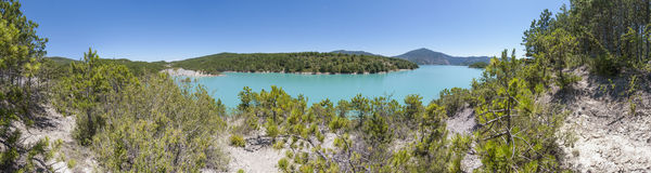 Mediano reservoir at Huesca, Spain royalty free stock images