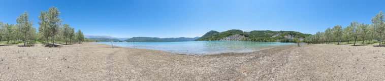 Mediano reservoir at Huesca, Spain royalty free stock photography