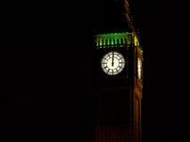 Medianoche con Big Ben Fondo del Año Nuevo Imagen de archivo libre de regalías