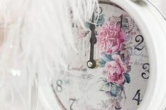 Medianoche de la demostración del reloj Foto de archivo libre de regalías