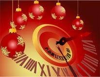 Medianoche del Año Nuevo Imagen de archivo libre de regalías