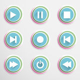 Mediaplayar buttons Stock Images