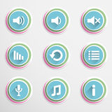 Mediaplayar buttons Royalty Free Stock Photography