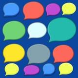 Medias burbujas sociales de la voz ilustración del vector