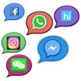 Medias burbujas sociales de la voz stock de ilustración
