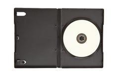 medias cd de dvd de cas blanc Photos stock