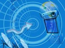 Medias, commerce électronique et transmission Image stock