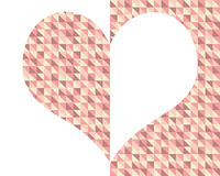 A medias corazón Fotografía de archivo