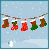 Medias de la Navidad para los presentes Imagenes de archivo