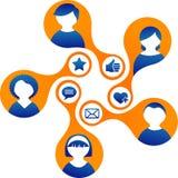 Medias et illustration sociaux de réseau illustration libre de droits