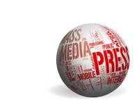 Medias et presse - Copyspace illustration libre de droits