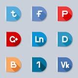 Medias etiquetas sociales ilustración del vector