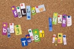 Medias muestras y palabras sociales del concepto Fotografía de archivo libre de regalías
