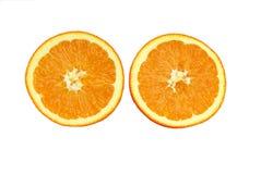 A medias naranja Imagenes de archivo