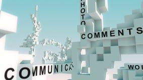 Medias palabras sociales animadas con los cubos libre illustration