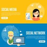 Medias plantillas sociales del sitio web de la red stock de ilustración