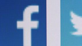 Medias redes sociales de la plataforma de Internet almacen de metraje de vídeo