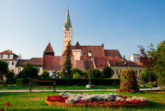 Medias, Romania. Medias has one of the best preserved historical centers in Romania and according to the tradition, the town was founded in 1146, being so one of Stock Photos