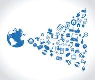 Medias sociaux Photos libres de droits