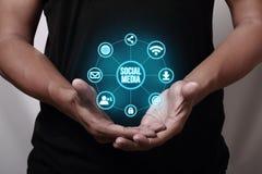 Medias sociaux Photo libre de droits