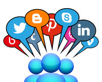 Medias sociaux Photos stock