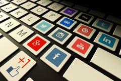 Medias sociaux Photographie stock