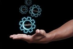 Medias sociaux Image stock