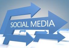 Medias sociaux Images libres de droits