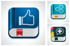 Medias sociaux de vecteur partageant le positionnement de graphisme Photos stock