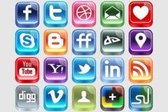 Medias sociaux en plastique Photographie stock