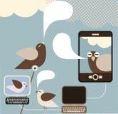Medias sociaux - illustration de vecteur de concept Image stock