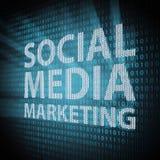 Medias sociaux lançant le concept sur le marché Photos libres de droits