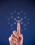 Medias sociaux lançant le concept sur le marché Images libres de droits
