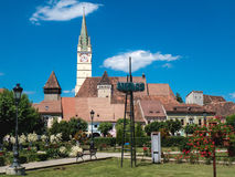 Medias Town Square, Romania, Transylvania Royalty Free Stock Photography