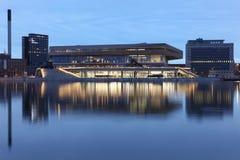Mediaspace urbano en Aarhus, Dinamarca Fotos de archivo
