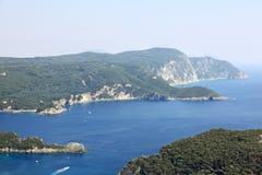 Mediaterranean landscape. Corfu island, Greece. Stock Images