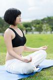 Mediating girl Royalty Free Stock Image