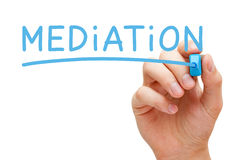 Mediation Blue Marker Stock Photography