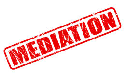 Mediation red stamp text. On white Stock Photos
